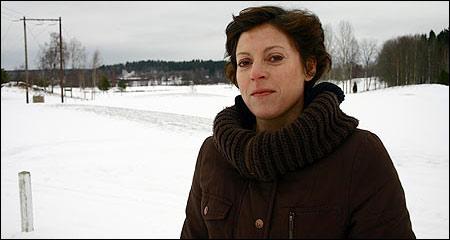 Annika Lundin, Linde Golfklubb, har tröttnat på skoteråkningen på golfbanan