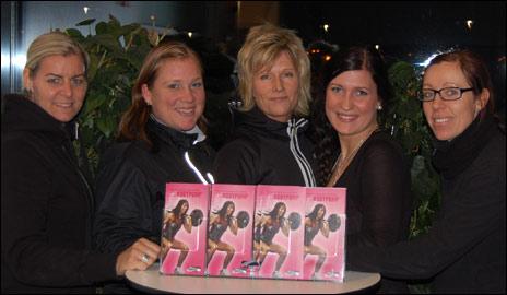 Karin Gustafsson, Sofia Egeryd, Katarina Gränsnäs, Malin Björling och Susanna Hellsten.