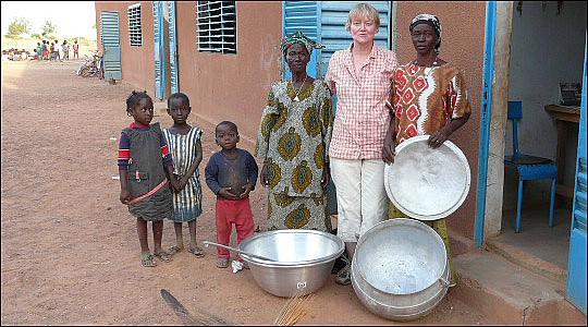 Från 2008 och Christinas fjärde besök i byn Oufre.