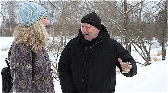 Agneta Nilsdotter och Kurt Scharnke vill rädda Loppholmen.