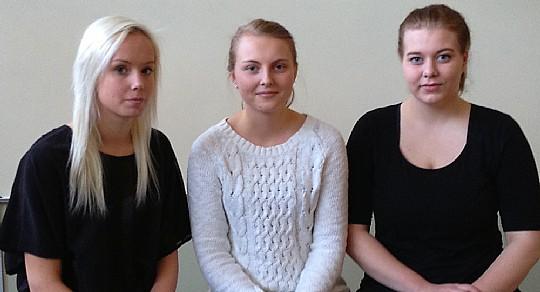 Sofie Lindahl, Julia Karlsson och Amanda Arvidsson