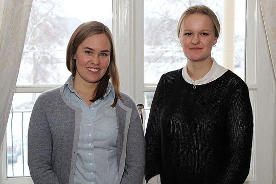 Carolina Berg och Hanna Jansson - årets RYLA-stipendiater.  Foto: Christer Karlsson