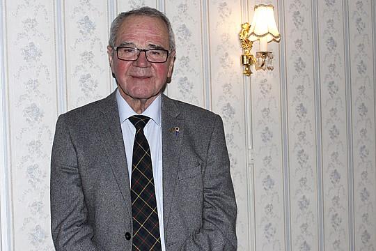 Bengt-Göran Karlsson, president Lions club Lindesberg. Foto Christer Karlsson.