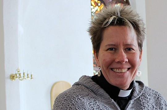 Gunilla Skottsborg, präst och konfirmandledare i Lindesberg. Foto: Lina Hagström/LindeNytt