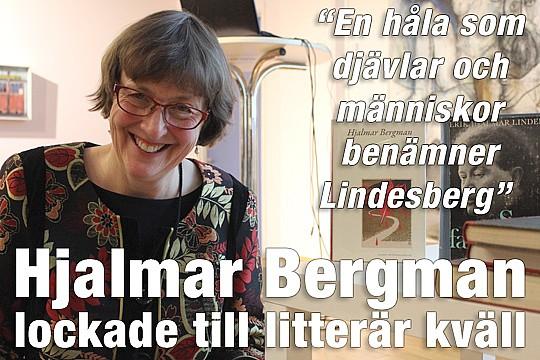 Astrid Lindén talade om både böcker av och om Hjalmar Bergman. Foto: Hans Andersson