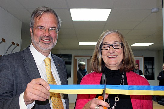 Ulla-Britt Norgren ordförande i NyföretagarCentrum Bergslagen och Jörgen Bengtsson projektledare från NyföretagarCentrum Sverige.