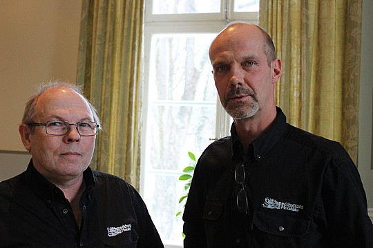 Peter Sigfrids och Arne Jansson - kaxiga ägare av Guldsmedshyttans Mekaniska AB. Foto: Hans Andersson