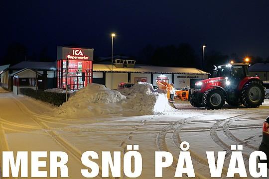 Mer snö är på väg in över Bergslagsområdet. Foto: Fredrik Norman