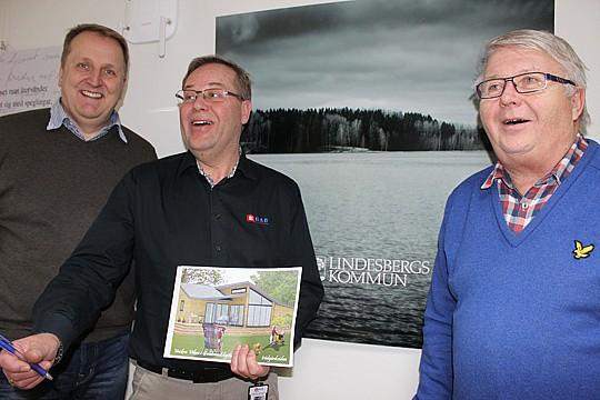 Mikael Hellgren, Mjockfjärdshus, Bengt-Erik Persson, EBAB och Gert Forsberg, Vackra Viken. Foto: Hans Andersson