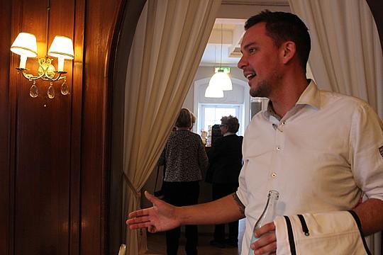- Stadshotellet bygger om restaurang och pub, säger Mattias Eriksson.Foto: Hans Andersson