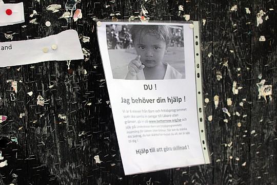 En av gruppernas affisch. Foto: Ida Lindkvist