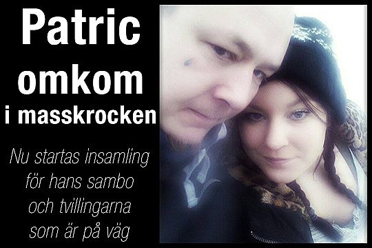 Patric och Julia tillsammans. Foto: Privat.