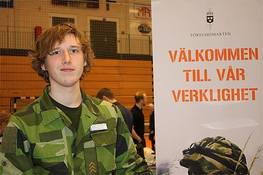 På bild: Rickard Petterstén från förra årets arbetsmarknadsmässa. Arkivfoto Monika Aune.