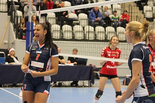 Yslany Kelly, som stod för 6 poäng, och hennes Linde gjorde processen kort med RIG. FOTO: Hannes Feldin