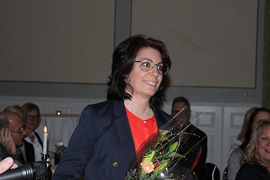 Helena Nilsson som satte Lindesberg på kartan med Paint the city hedrades som årets eldsjäl. Foto: Hans Andersson
