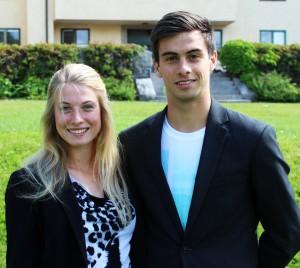 Filip och Michaela brinner för sport. Foto: Ida Lindkvist