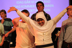 Safiah Ismail gillade att stå på scenen och sjunga. Foto: Hans Andersson