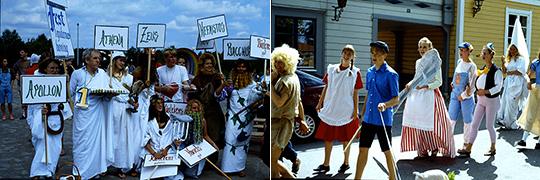 """Karnevalspex - ett uppskattat inslag i """"studentveckan"""". Foto: Leif Kalmö"""