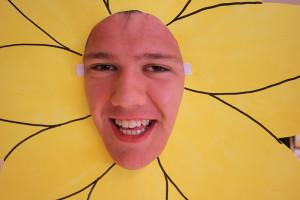 Niklas Jansson strålar som en sol(ros). Foto: Hans Andersson