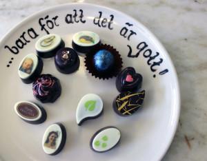 Med en skrivare laddad med chokladfärg skapas fotografiskt tjusiga praliner. Foto: Hans Andersson