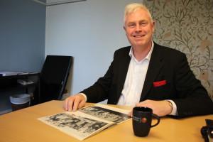 Joakim Wessman - idag ordförande för Bergslagens Sparbank - då debattglad elevrådsordförande. Foto: Hans Andersson