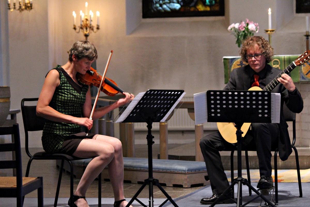 Anna Johansson tillsammans med Klas Friman. Foto: Ida Lindkvist