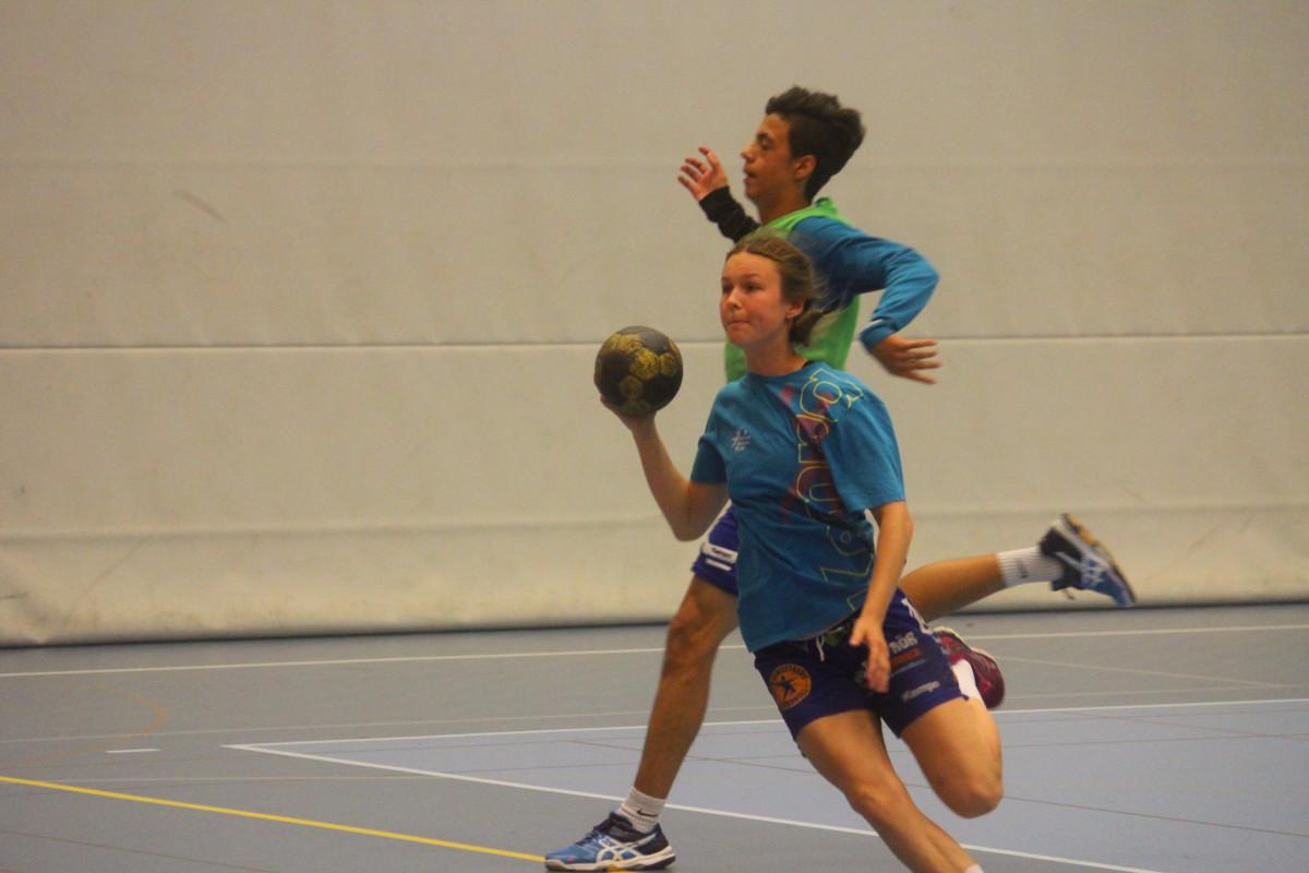 Träningsspelet avslutades igår med internmatcher mellan lagen. FOTO: Hannes Feldin