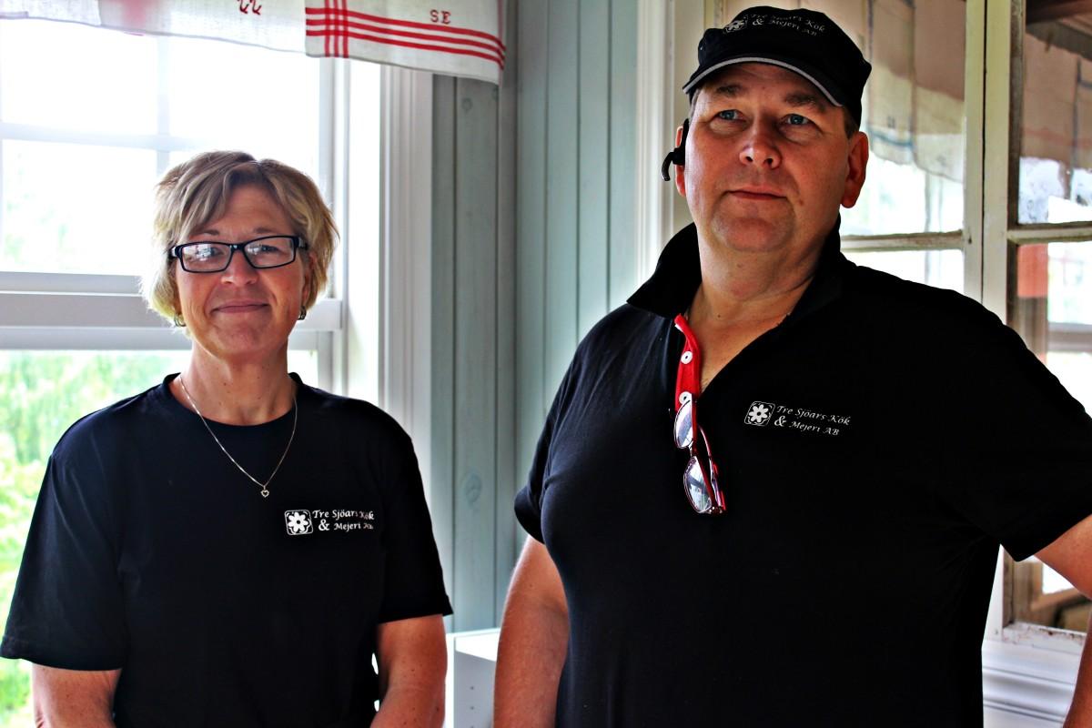 Tre Sjöars Kök & Mejeris Maria Evaldsson och Johan Linderkers. Foto: Ida Lindkvist