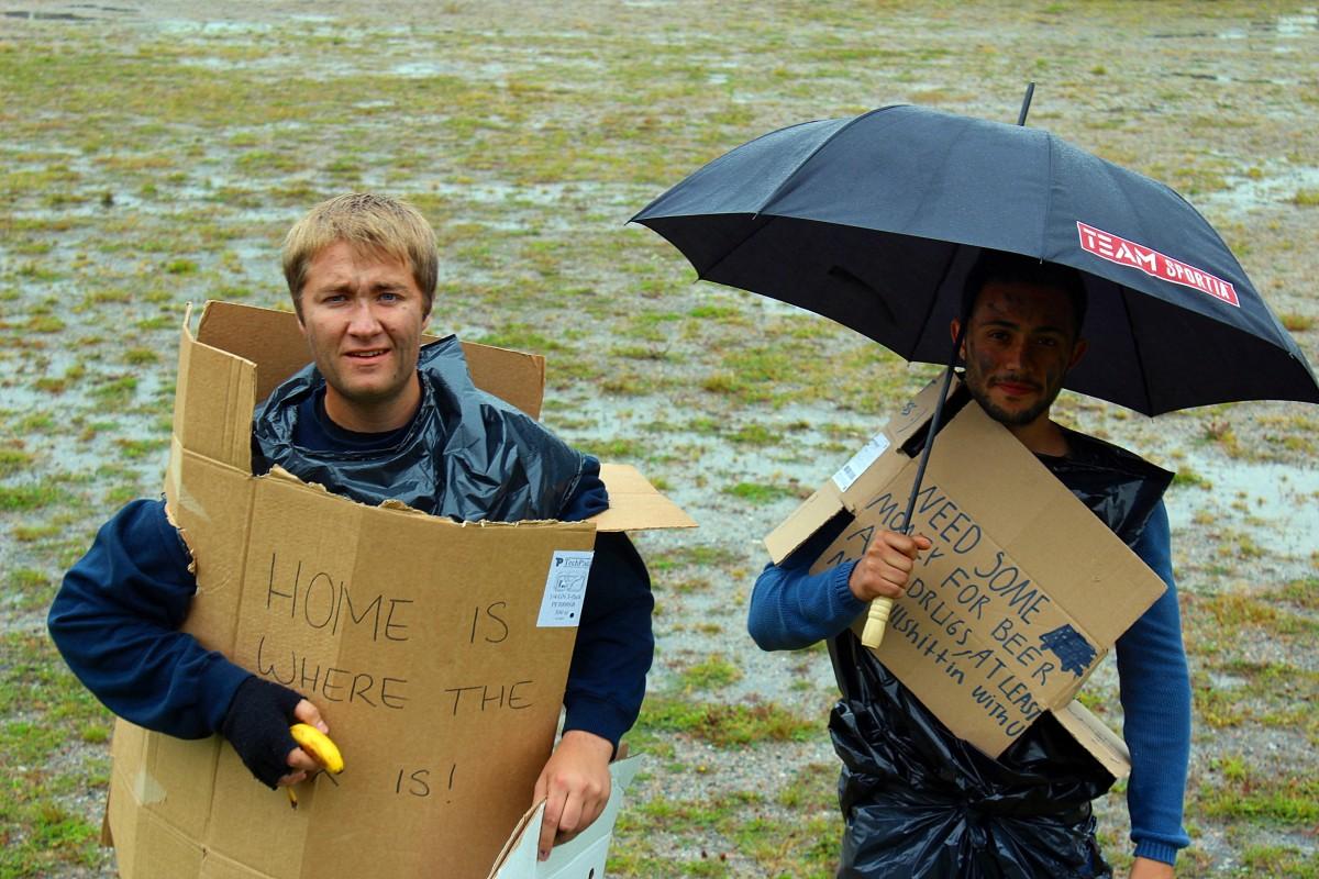 Scott och Baris redo att kämpa för vinst. Foto: Ida  Lindkvist