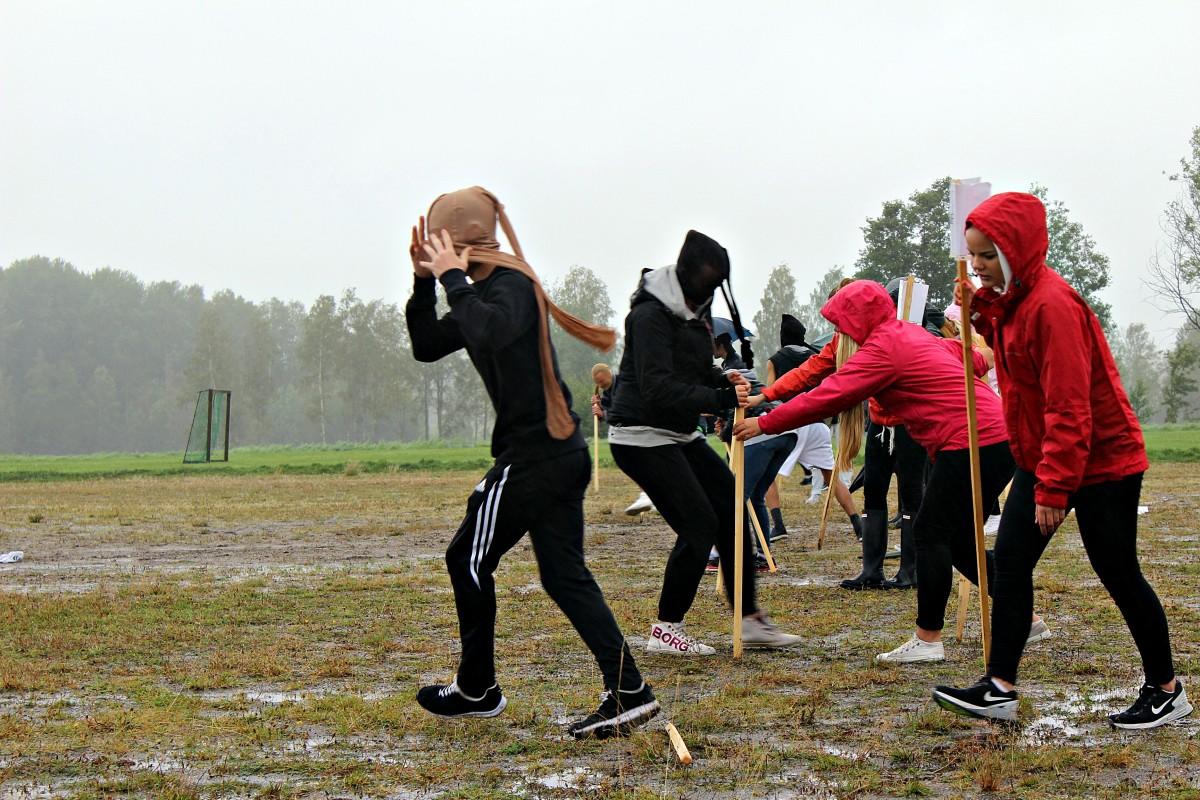 Första momentet i femkampen. Foto: Ida Lindkvist