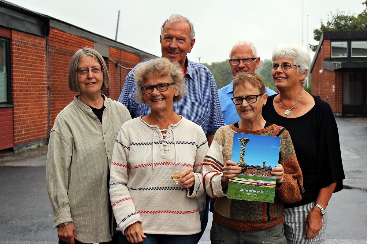 Sex av nio ur redaktionsgruppen. Foto: Ida Lindkvist