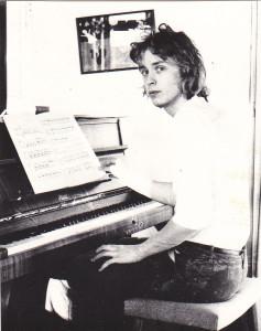 En ung Per Borin som tidigt visade sitt musikaliska intresse och sin musikaliska talang. Foto: Lotta Persdotter