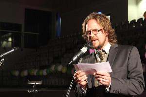 Staffan Blixt hade funderingar om tidens gång i sitt tal. Foto: Hans Andersson