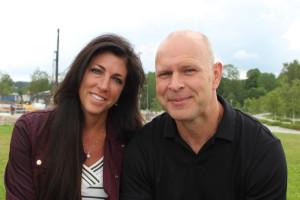 Pelle Fisk med frun Michelle besökte Lindesberg i somras. Foto: Hans Andersson