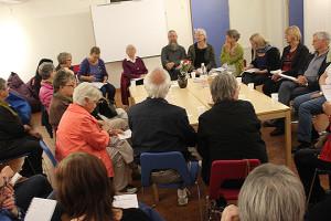 Det var stort intresse för nästa upplaga av Vinterspår, när man samlades till upptaktsmöte. Foto: Hans Andersson