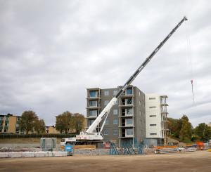Ålkilsbacken tar bostadsbyggandet till nya höjder. Foto: Fredrik Norman
