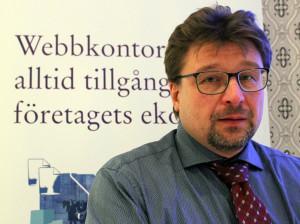 Peder Larsson från Grant Thornton berättade om förändringar i skattelagstiftningen som är på gång. Foto: Hans Andersson
