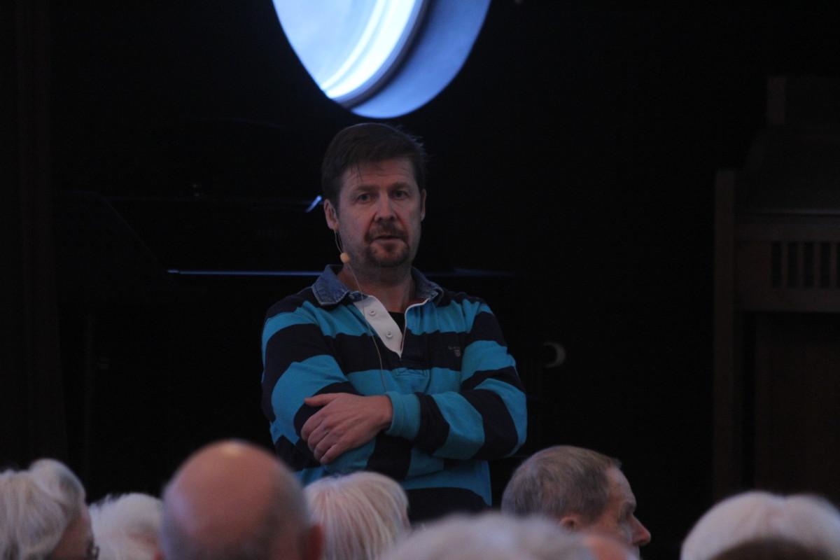Erik Lundström talade för många lyhörda öron. Foto: Ida Lindkvist