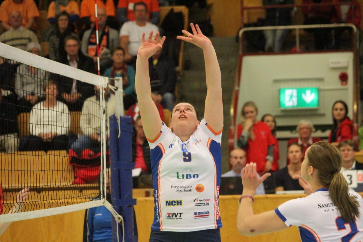 Lindesberg Volley valde att strax före jul bryta kontraktet med passaren Gaëlle Mollinger. ARKIVFOTO: Hannes Feldin