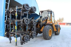 Jardlers Åkeri sköter transporter av hjulaxlar till Göteborg. Foto: Hans Andersson