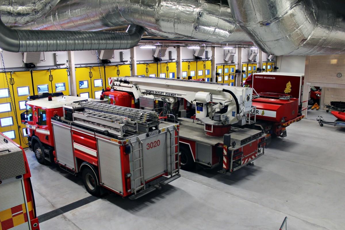 Nu har brandbilarna bytt hem! Foto: Ida Lindkvist