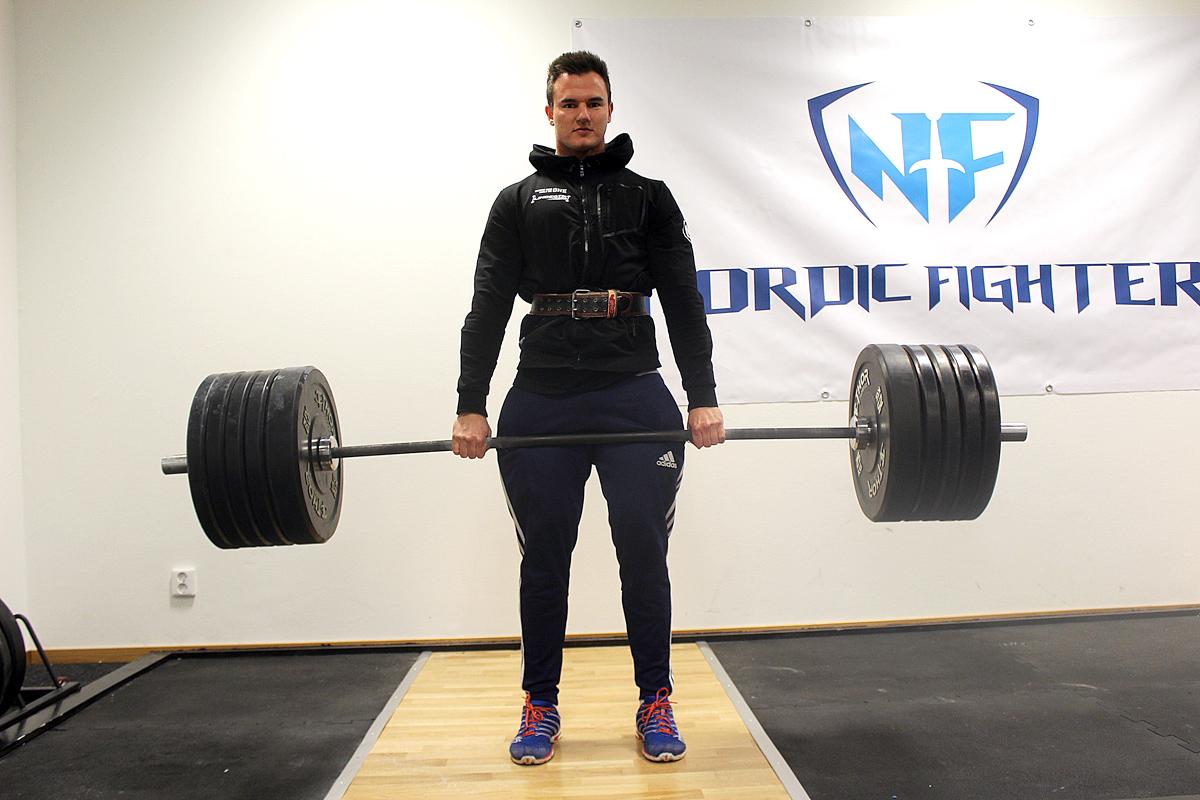 Robin Ljungqvist på Linde Gym. Foto: Ida Lindkvist