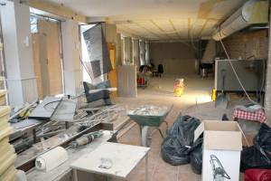 Restaurangen skall få en helt ny interiör som går i sten- och trämaterial.