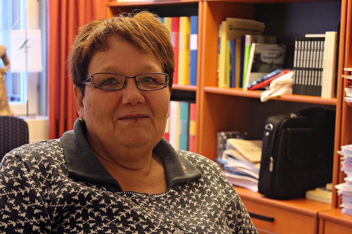 Kommunstyrelsens ordförande, Irja Gustavsson. Foto: Ida Lindkvist