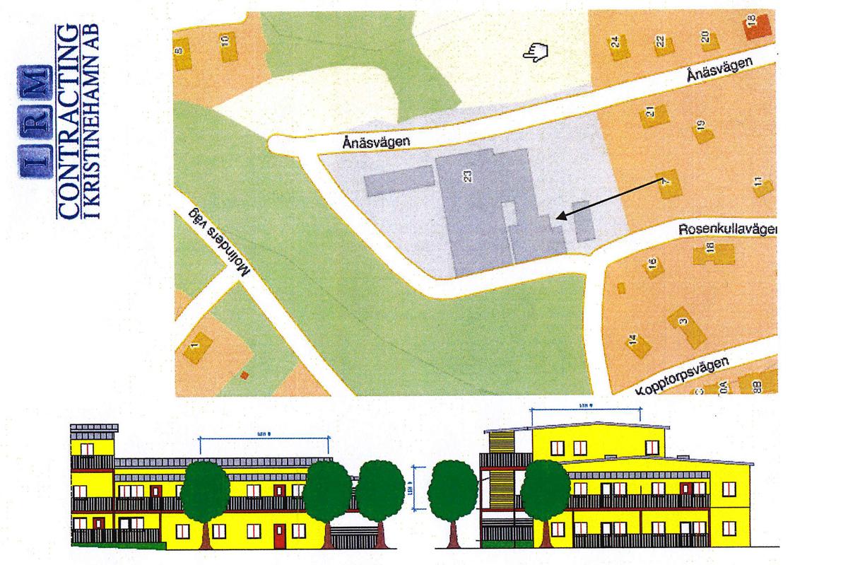 Så här blir det när fd Engströms Mekaniska byggs om till moderna bostäder. Bild: IRM Contracting i Kristinehamn AB