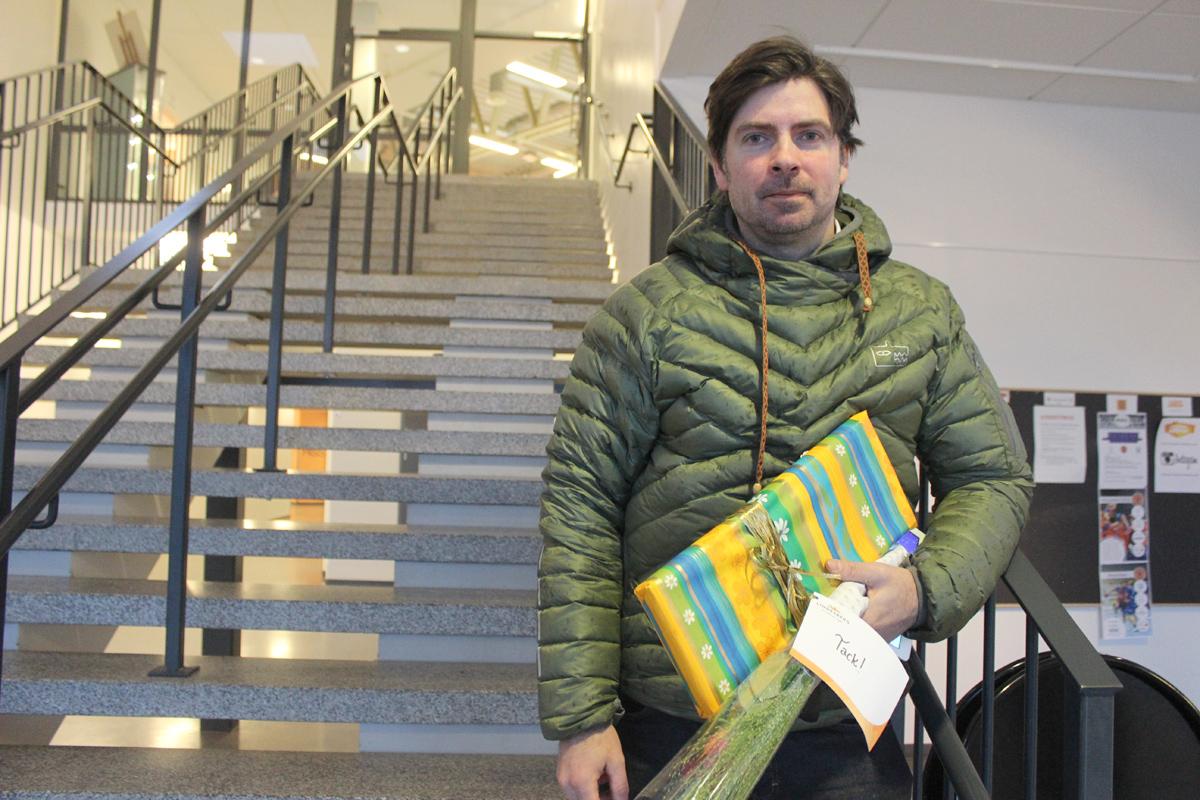 Roger Hjälm entreprenör och extremsportare inspirerade Lindesbergs företagare. Foto: Hans Andersson