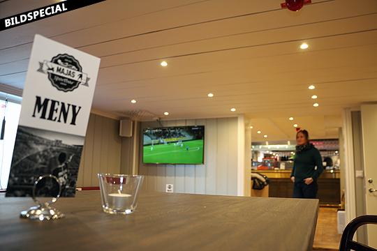 Häng med in i den nya sportbaren - innan gästerna kommer. Foto: Fredrik Norman