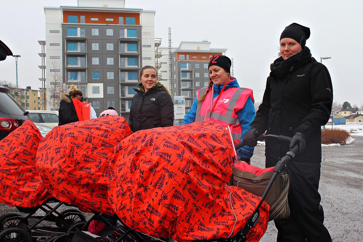 Initiativtagare. Fr. v: Angelica Skålberg, Mikaela Haglund och Josefin Erlandsson. Foto: Ida Lindkvist