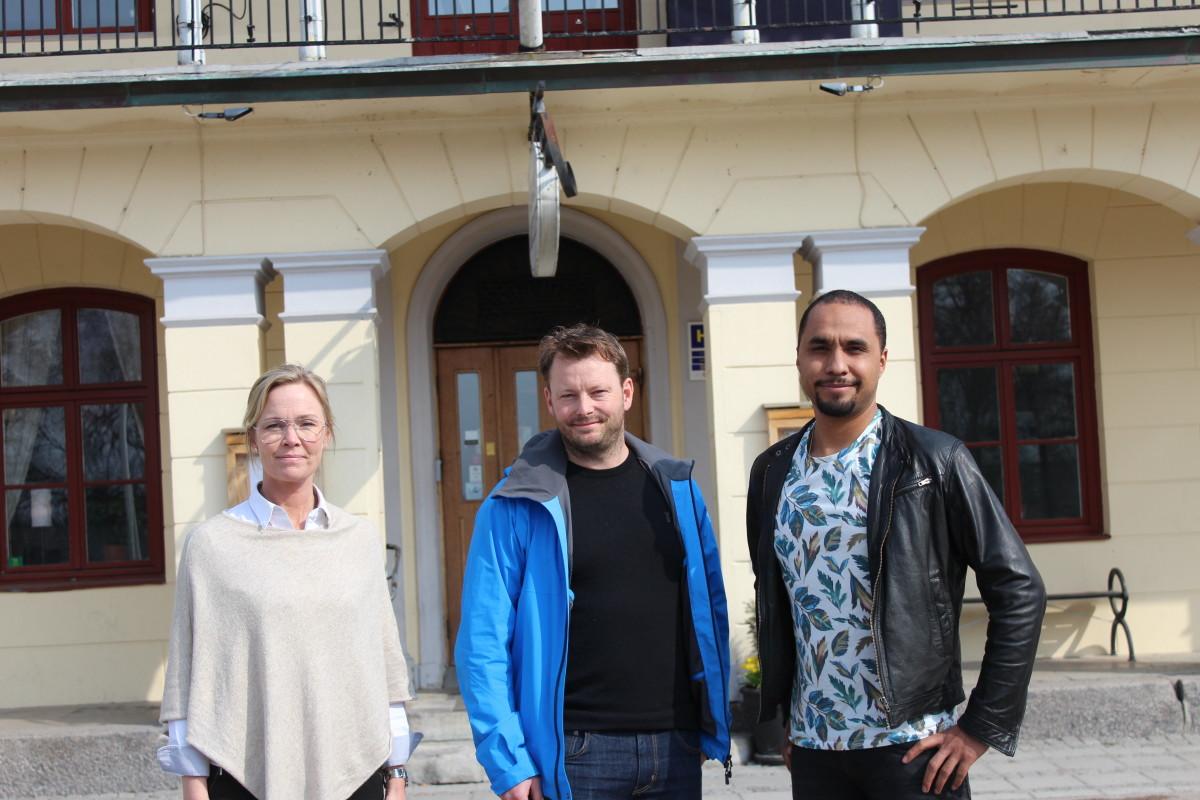 Bakom initiativet står Anna Huzelius, Petter Carlsson och Julian Lundberg. FOTO: Hannes Feldin