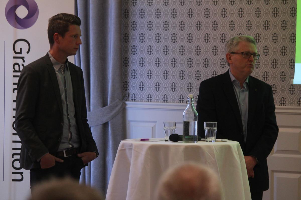 Andreas Auer och Sture Åtterås. Foto: Ida Lindkvist